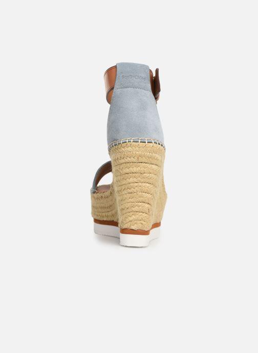 Sandales et nu-pieds See by Chloé Glyn High Bleu vue droite