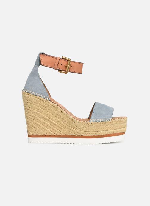 Sandales et nu-pieds See by Chloé Glyn High Bleu vue derrière