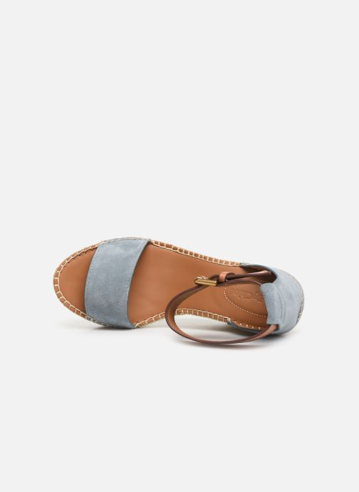 Sandales et nu-pieds See by Chloé Glyn High Bleu vue gauche