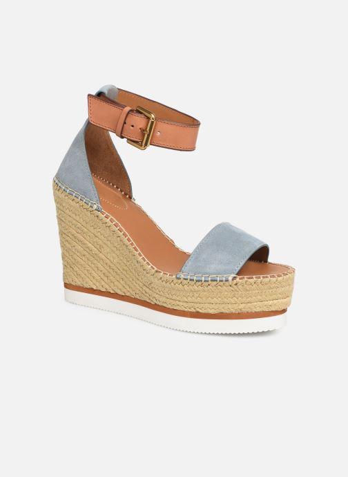 Sandaler See by Chloé Glyn High Blå detaljeret billede af skoene