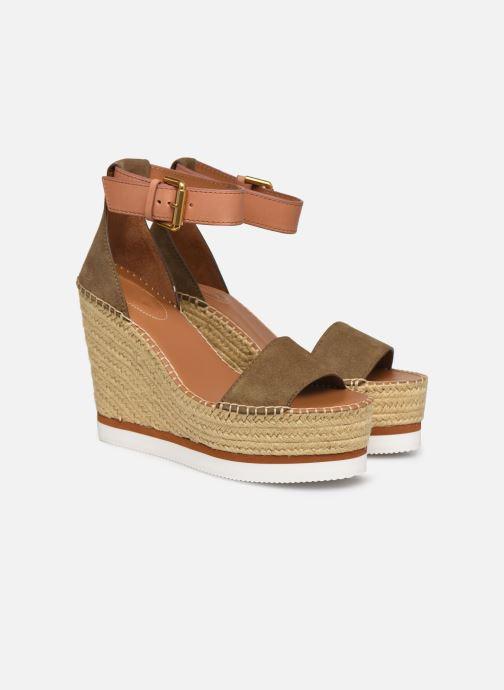 Sandali e scarpe aperte See by Chloé Glyn High Verde immagine 3/4