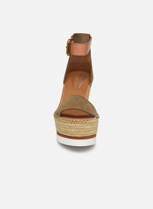 Sandales et nu-pieds See by Chloé Glyn High Vert vue portées chaussures