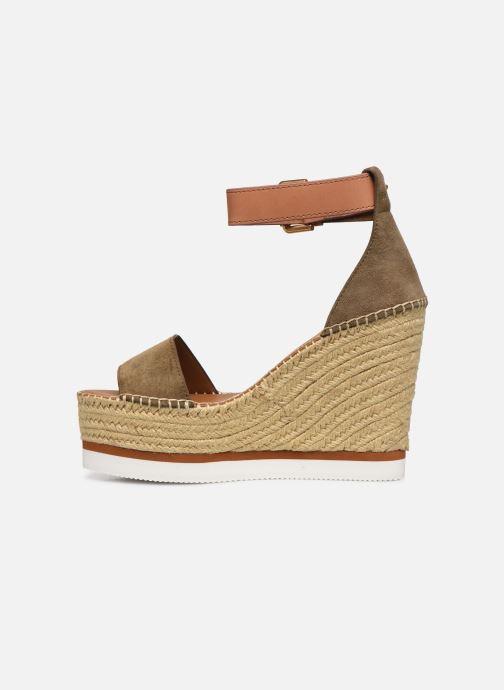 Sandali e scarpe aperte See by Chloé Glyn High Verde immagine frontale