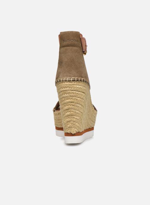 Sandales et nu-pieds See by Chloé Glyn High Vert vue droite
