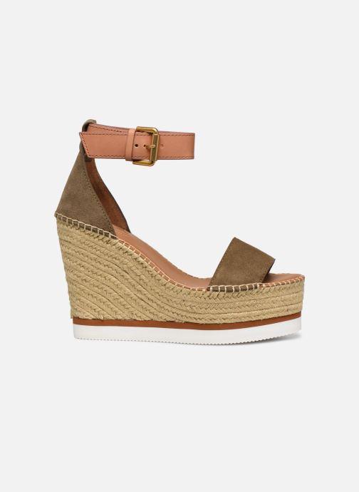 Sandales et nu-pieds See by Chloé Glyn High Vert vue derrière
