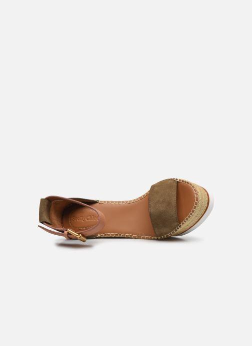 Sandales et nu-pieds See by Chloé Glyn High Vert vue gauche