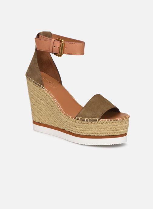 Sandales et nu-pieds See by Chloé Glyn High Vert vue détail/paire