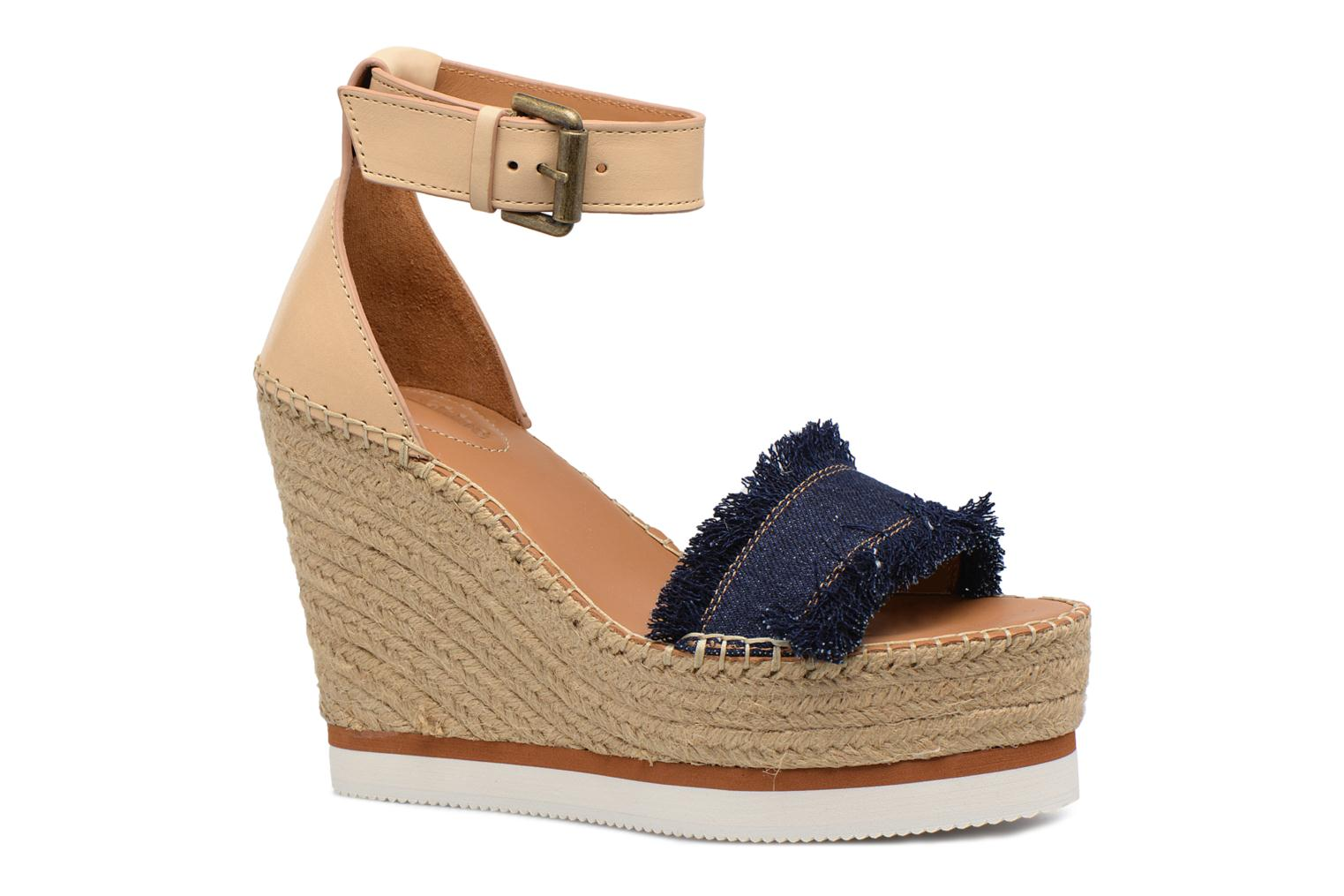 Sandals See by Chloé Glyn High Blue detailed view/ Pair view