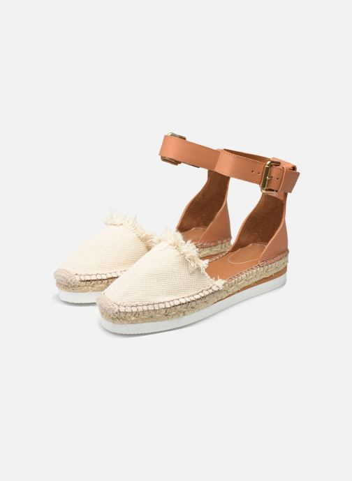 Espadrilles See by Chloé Glyn Flat White view from underneath / model view