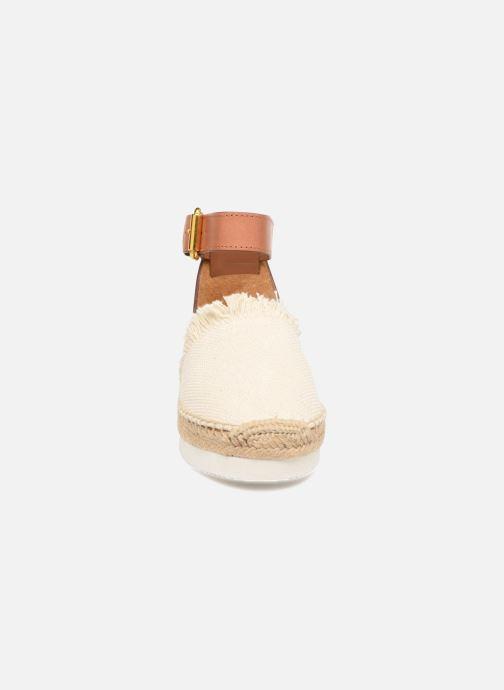 Espadrilles See by Chloé Glyn Flat weiß schuhe getragen