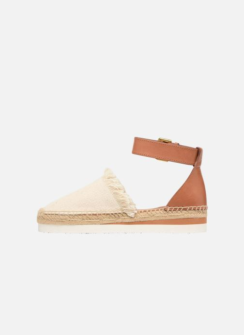 Espadrilles See by Chloé Glyn Flat Blanc vue face
