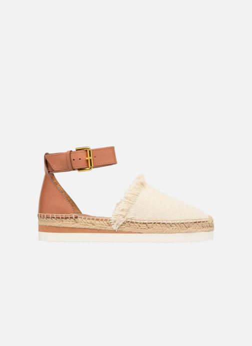 Espadrilles See by Chloé Glyn Flat Wit achterkant