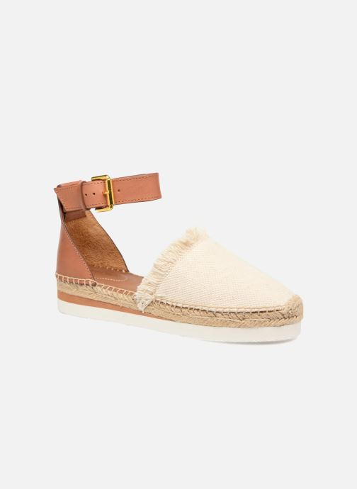 Espadrilles See by Chloé Glyn Flat White detailed view/ Pair view
