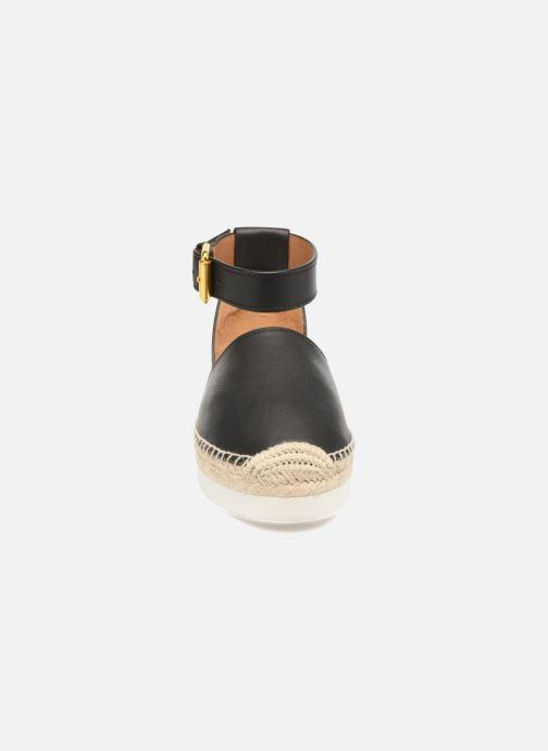 Scarpe di corda See by Chloé Glyn Flat Nero modello indossato