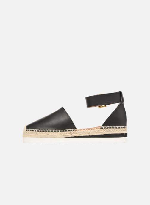 Espadrilles See by Chloé Glyn Flat Noir vue face