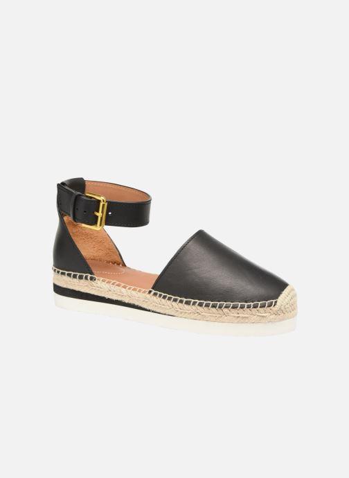 Espadrillos See by Chloé Glyn Flat Sort detaljeret billede af skoene