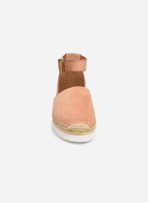 Scarpe di corda See by Chloé Glyn Flat Rosa modello indossato