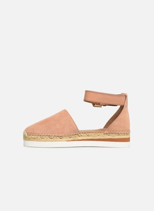 Espadrillos See by Chloé Glyn Flat Pink se forfra