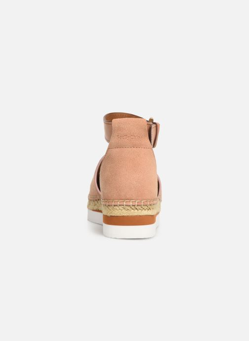Espadrilles See by Chloé Glyn Flat Rose vue droite
