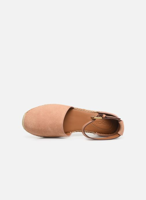 Espadrillos See by Chloé Glyn Flat Pink se fra venstre