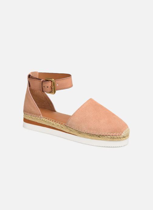 Espadrillos See by Chloé Glyn Flat Pink detaljeret billede af skoene
