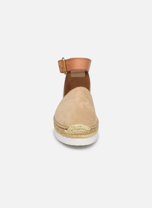 Espadrilles See by Chloé Glyn Flat Beige vue portées chaussures