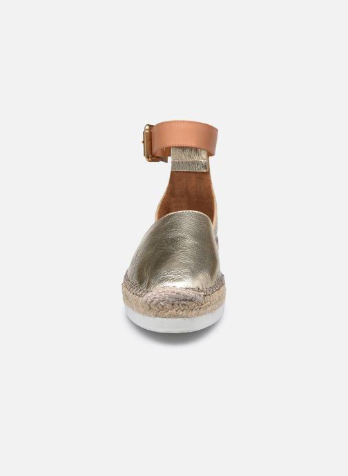 Espadrilles See by Chloé Glyn Flat gold/bronze schuhe getragen