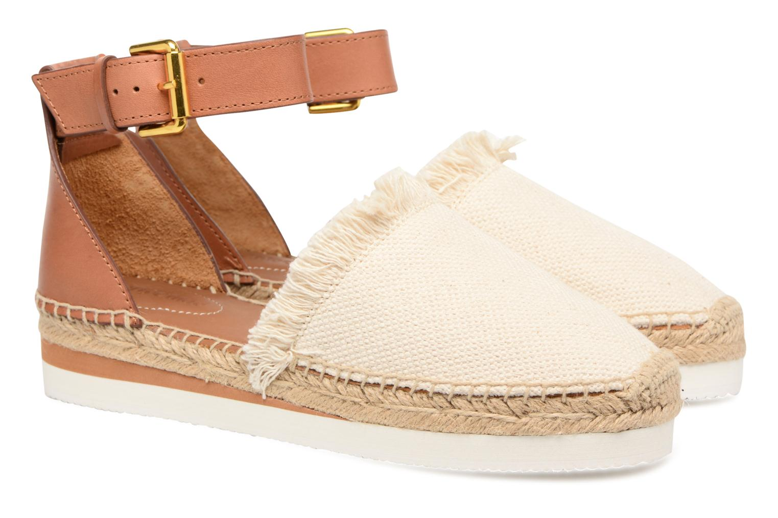 Espadrilles See by Chloé Glyn Flat White 3/4 view