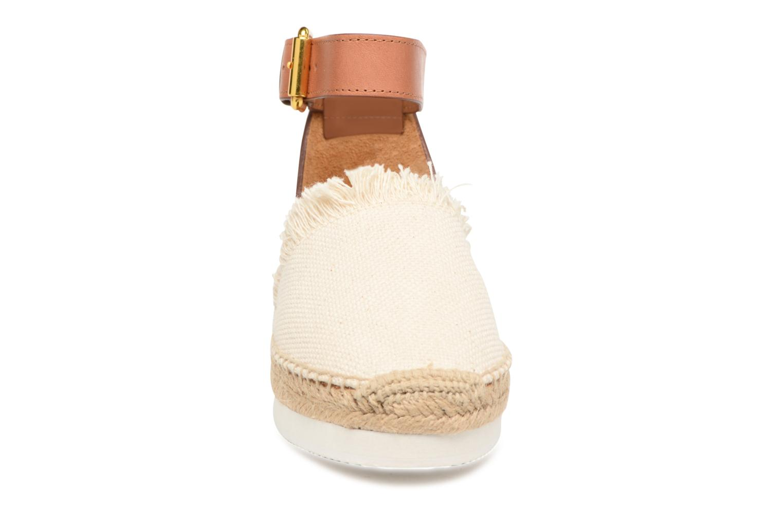 Espadrilles See by Chloé Glyn Flat Blanc vue portées chaussures