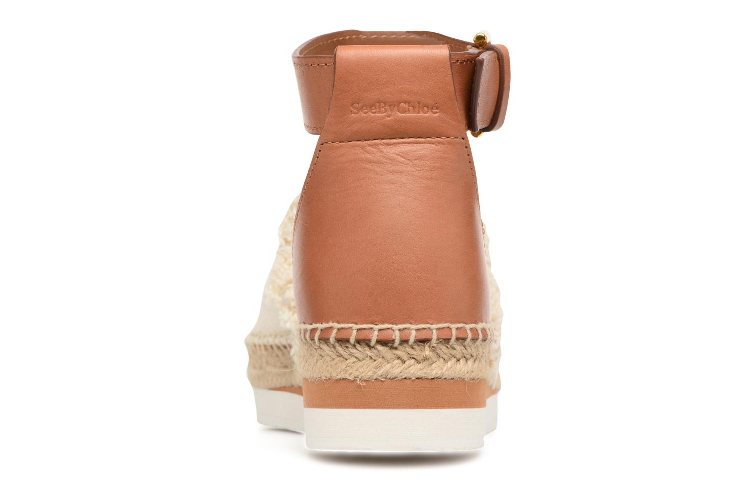 Espadrilles See by Chloé Glyn Flat White view from the right