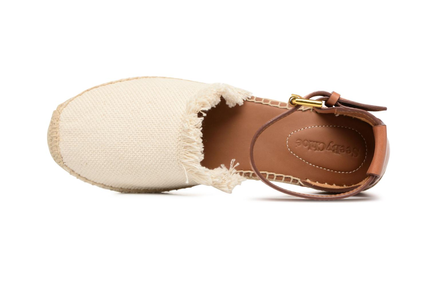 Espadrilles See by Chloé Glyn Flat White view from the left
