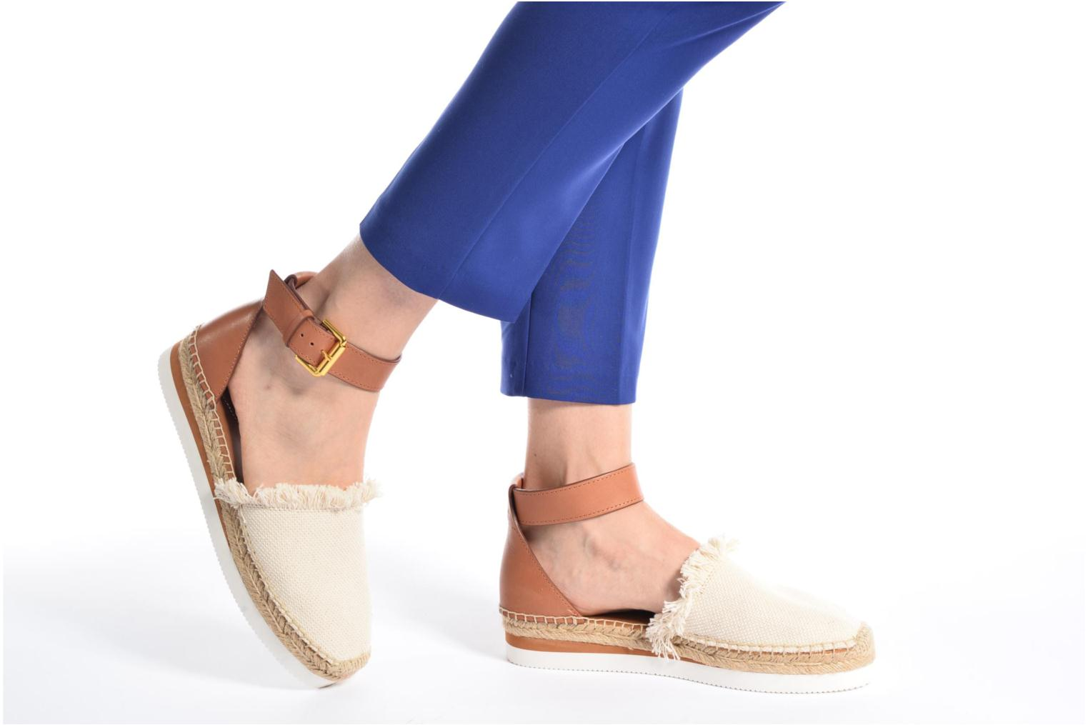 Espadrilles See by Chloé Glyn Flat Black view from underneath / model view
