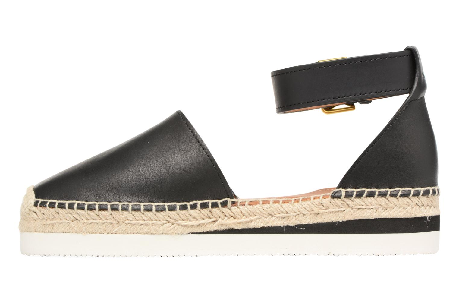 Espadrilles See by Chloé Glyn Flat Black front view