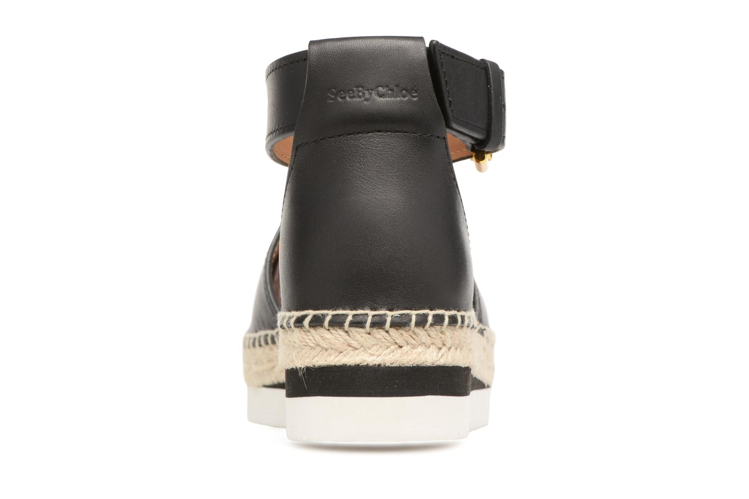 Espadrilles See by Chloé Glyn Flat Black view from the right
