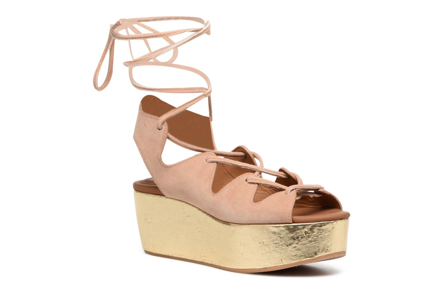 Sandals See by Chloé Alia Brown detailed view/ Pair view