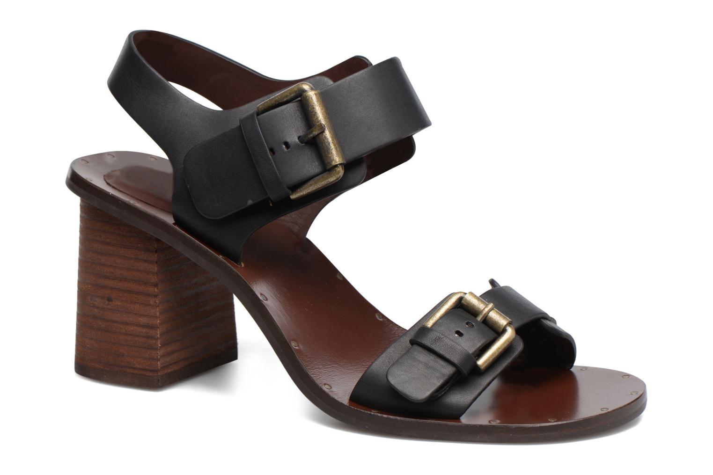 Sandaler See by Chloé Romy High Sort detaljeret billede af skoene