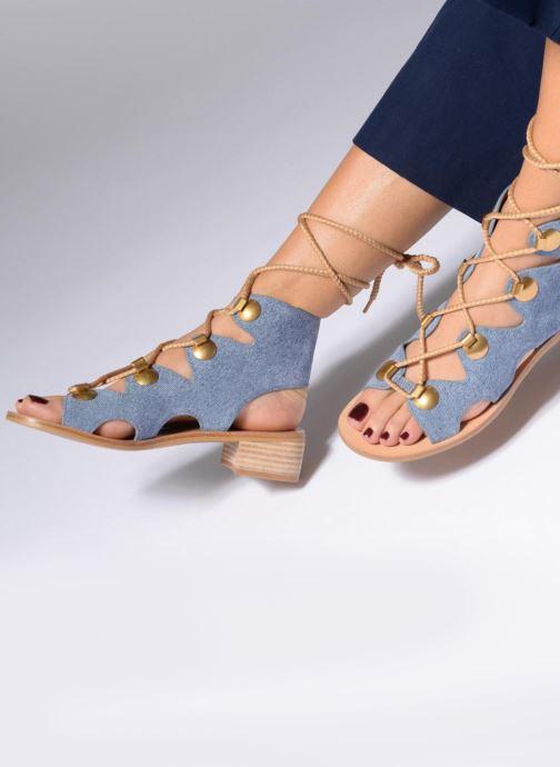 Sandalias See by Chloé Edna Azul vista de abajo
