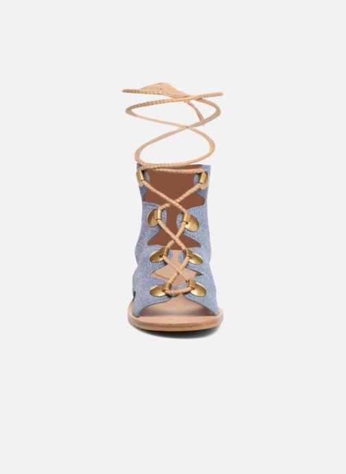 Sandales et nu-pieds See by Chloé Edna Bleu vue portées chaussures