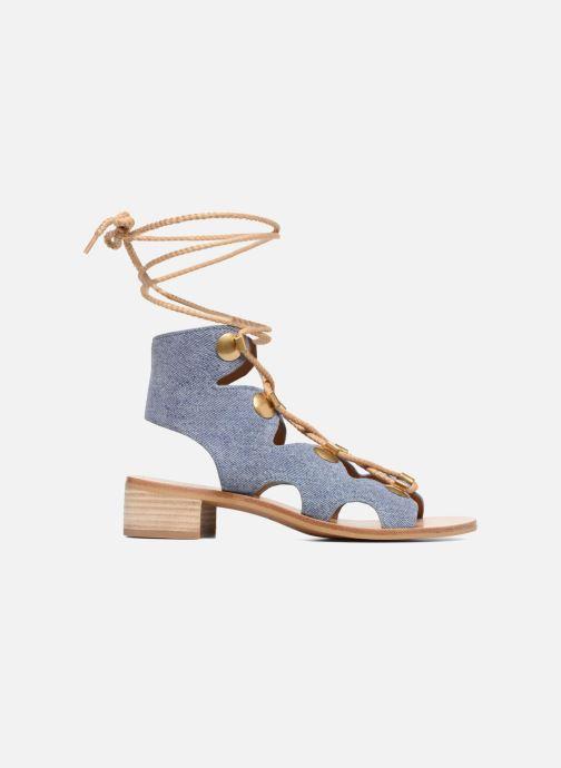 Sandales et nu-pieds See by Chloé Edna Bleu vue derrière
