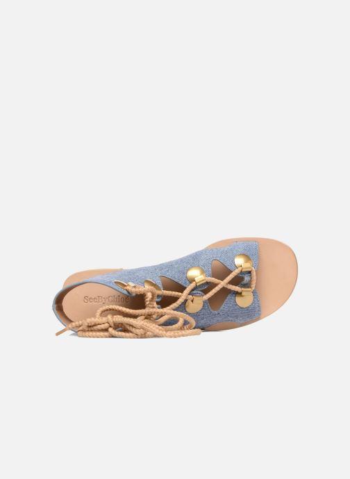 Sandalias See by Chloé Edna Azul vista lateral izquierda