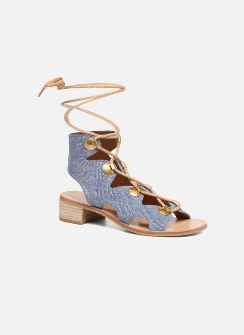 Sandaler See by Chloé Edna Blå detaljeret billede af skoene