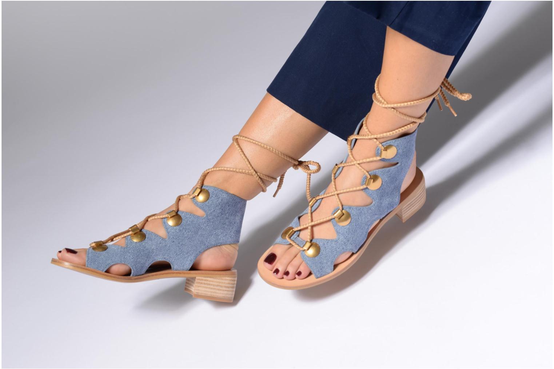 Sandales et nu-pieds See by Chloé Edna Noir vue bas / vue portée sac