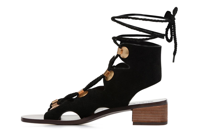 Sandales et nu-pieds See by Chloé Edna Noir vue face