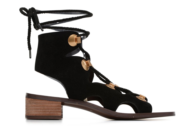 Sandales et nu-pieds See by Chloé Edna Noir vue derrière