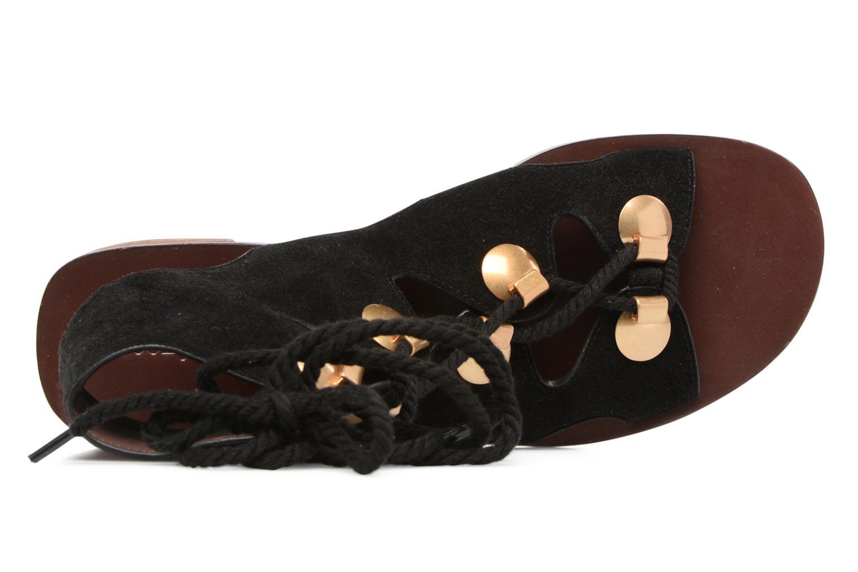 Sandales et nu-pieds See by Chloé Edna Noir vue gauche