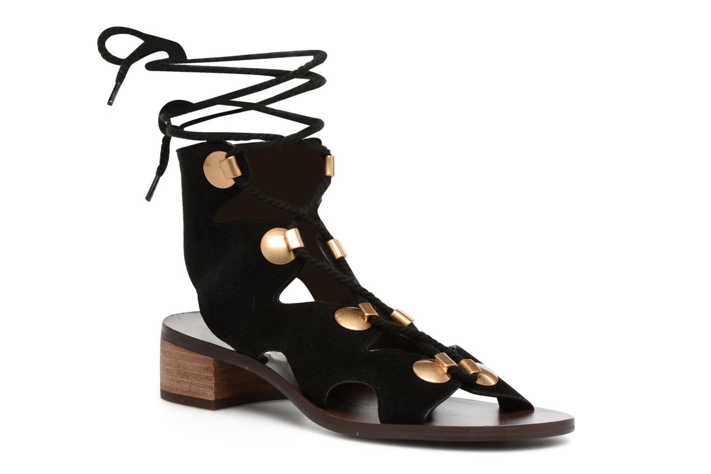 Sandales et nu-pieds See by Chloé Edna Noir vue détail/paire