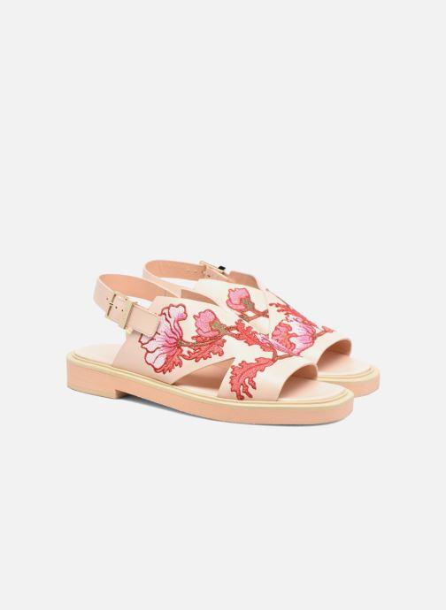 Sandales et nu-pieds Carven Butterfly Sandal Rose vue 3/4