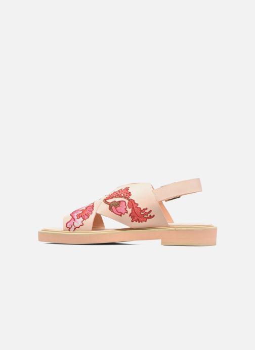 Sandales et nu-pieds Carven Butterfly Sandal Rose vue face