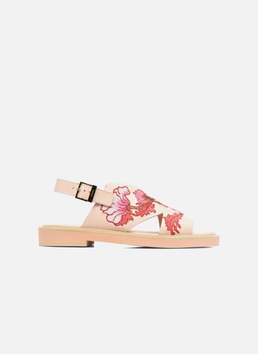 Sandales et nu-pieds Carven Butterfly Sandal Rose vue derrière