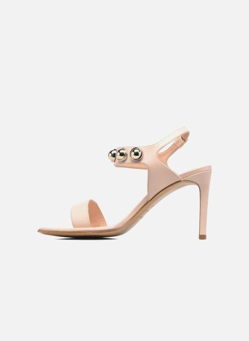 Sandales et nu-pieds Carven Resonance High Sandal Beige vue face